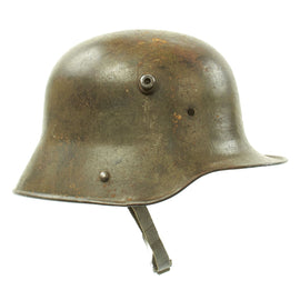 Original Imperial German WWI M16 Stahlhelm Army Helmet Shell with Chinstrap - marked E.T.62