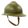 show larger image of product view 2 : Original WWII French M1926 Adrian Helmet without Badge - Olive Green Original Items