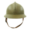 show larger image of product view 7 : Original WWII French M1926 Adrian Helmet without Badge - Olive Green Original Items