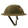 show larger image of product view 4 : Original WWI U.S. Marine Corps 1st Battalion 5th Marines M1917 Doughboy Helmet with Textured Paint - 2nd Division Original Items