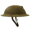 show larger image of product view 5 : Original WWI U.S. Marine Corps 1st Battalion 5th Marines M1917 Doughboy Helmet with Textured Paint - 2nd Division Original Items