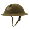 show larger image of product view 6 : Original WWI U.S. Marine Corps 1st Battalion 5th Marines M1917 Doughboy Helmet with Textured Paint - 2nd Division Original Items