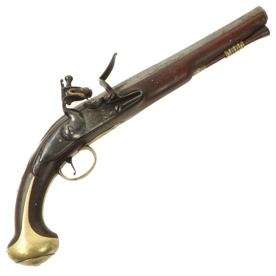 "Original 18th Century English Flintlock Pistol by James Barbar with ""Wormed"" Ramrod - circa 1750 Original Items"