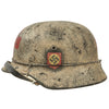 show larger image of product view 3 : Original German WWII Refurbished M40 SS Battle of Leningrad Winter Medic Sanität Helmet - Size 66 Shell Original Items