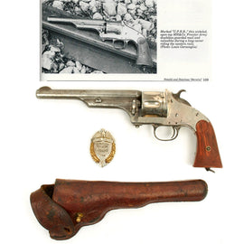 Original Union Pacific Railroad Merwin, Hulbert & Co. First Model Frontier Army Single Action Revolver Grouping
