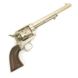 Original U.S. Colt Nickel-Plated Single Action Army .44/40 Caliber Revolver Serial 79184 - Made in 1882