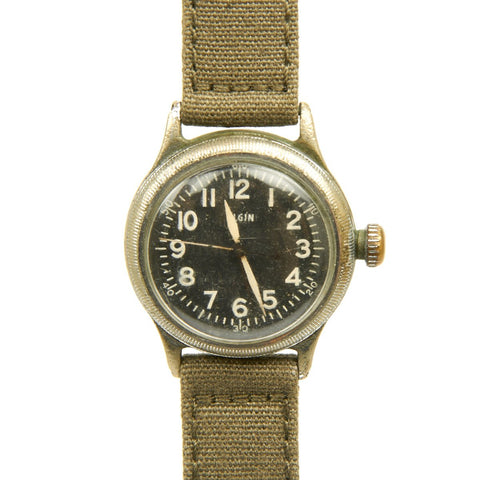 Original U.S. WWII 1945 Type A-11 USAAF Wrist Watch by Elgin - Fully Functional