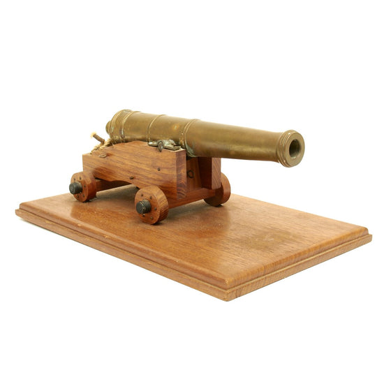 Original Antique Scale Model of a Bloomfield Style Napoleonic Era Bronze Cannon