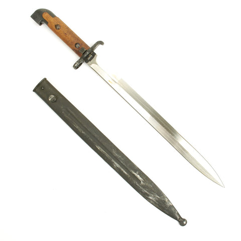 Original Swedish M1914 Bayonet By Eskilstuna For M1894/14 6.5mm Mauser Carbines and M1945 Carl Gustav SMG