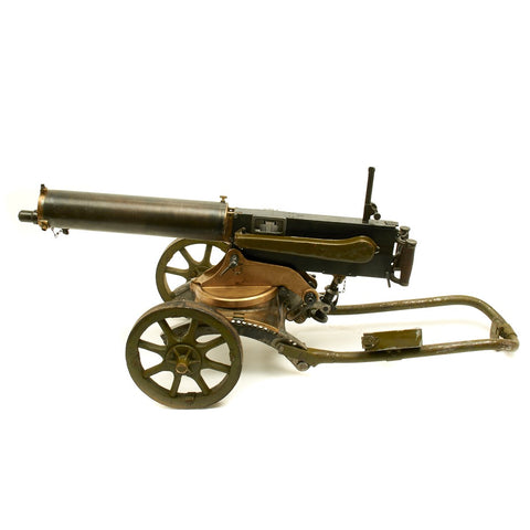 Original WWI Imperial Russian M-1905/1910 Maxim Smooth Jacket Display gun with 1916 Dated Sokolov Mount