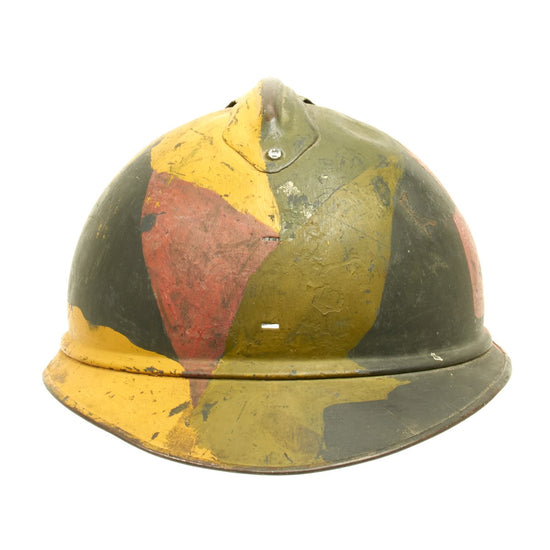 Original French WWI Model 1915 Adrian Camouflage Helmet