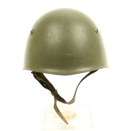 Original WWII Italian M33 Helmet Stamped BB 65 Named to DASCH