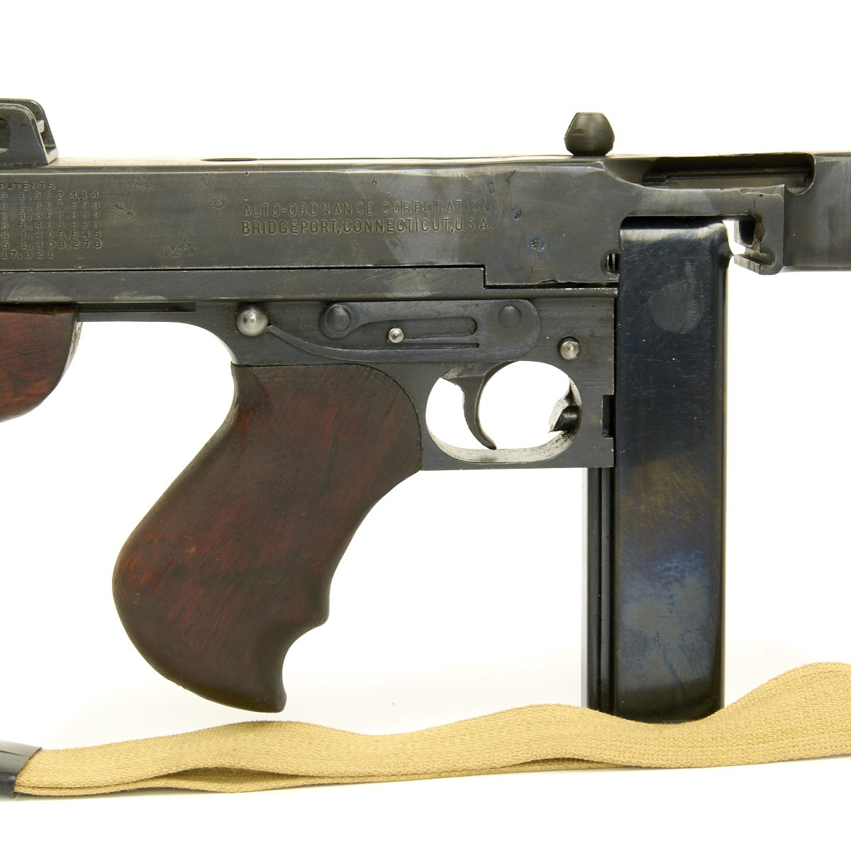 Original U S  WWII Thompson M1928A1 Display SMG Marked TOMMY