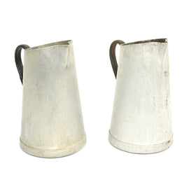 Original German WWII Set of Two Luftwaffe Kitchen Pitchers Maker Marked and dated 1939 and 1940