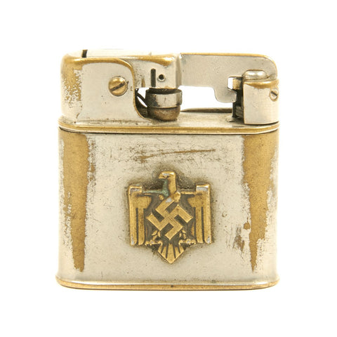 Original German WWII NSDAP Eagle Decorated Cigarette Lighter by Lünder - Dated 1939