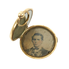 Original U.S. Civil War Zouave 76th Ohio Infantry Mourning Death Locket