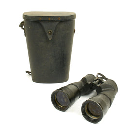 Original WWII U.S. Naval Gun Factory Mark 37 Binocular 9x63 by Bausch & Lomb with Case