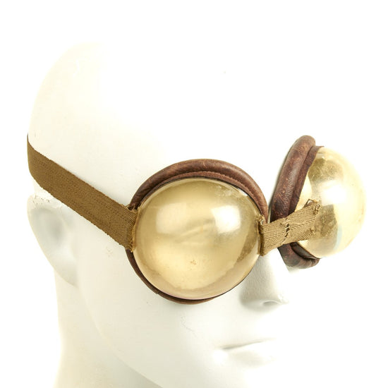 Original WWII German Pferdgasmaske 41 Horse Gas Mask Goggles Converted for Human Use