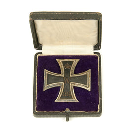 Original German WWI Prussian Iron Cross First Class 1914 in Original Case - KO Marked