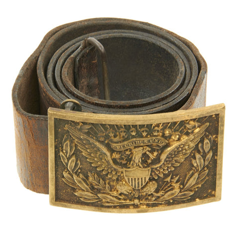 Original U.S. Spanish American War Federal Army Officer Eagle Plate Belt Original Items