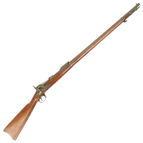 Original U.S. Springfield Trapdoor Model 1873 updated to 1884 Round Rod Bayonet Rifle - Serial No 138067