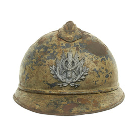 Original French WWI Model 1915 Adrian Intendance Helmet - M15 2nd Type