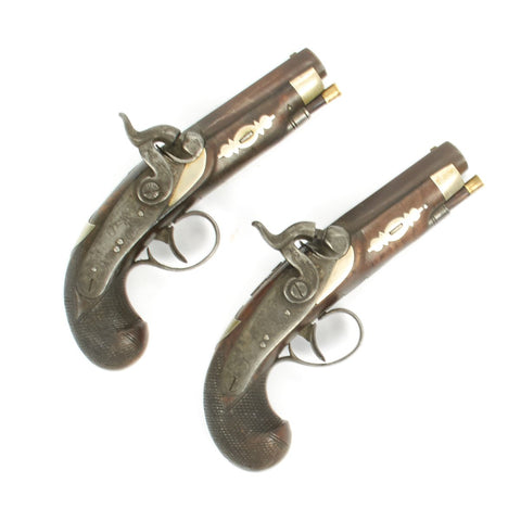 Original U.S. Civil War Era Pair of Philadelphia Pocket Percussion pistols by DERINGER circa 1855-65