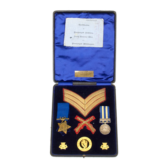 Original British Victorian Royal Irish Regiment Egyptian Campain Medal set of Sgt. William Carroll