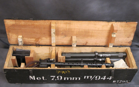 German WW2 MG34 Matching Serial Number Parts Set / Display Gun with Transit Chest: Museum Grade