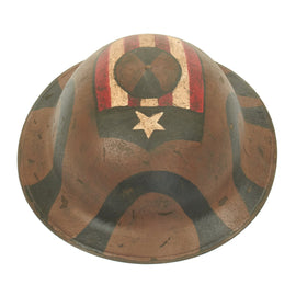 Original U.S. WWI M1917 Refurbished Doughboy Helmet of the 7th Infantry Division