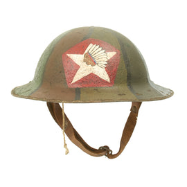 Original U.S. WWI M1917 Refurbished Doughboy Helmet of the 2nd Infantry Division