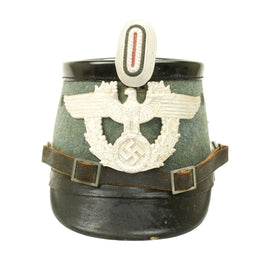 Original German WWII Metropolitan Police Officer Shako by Hans Romer