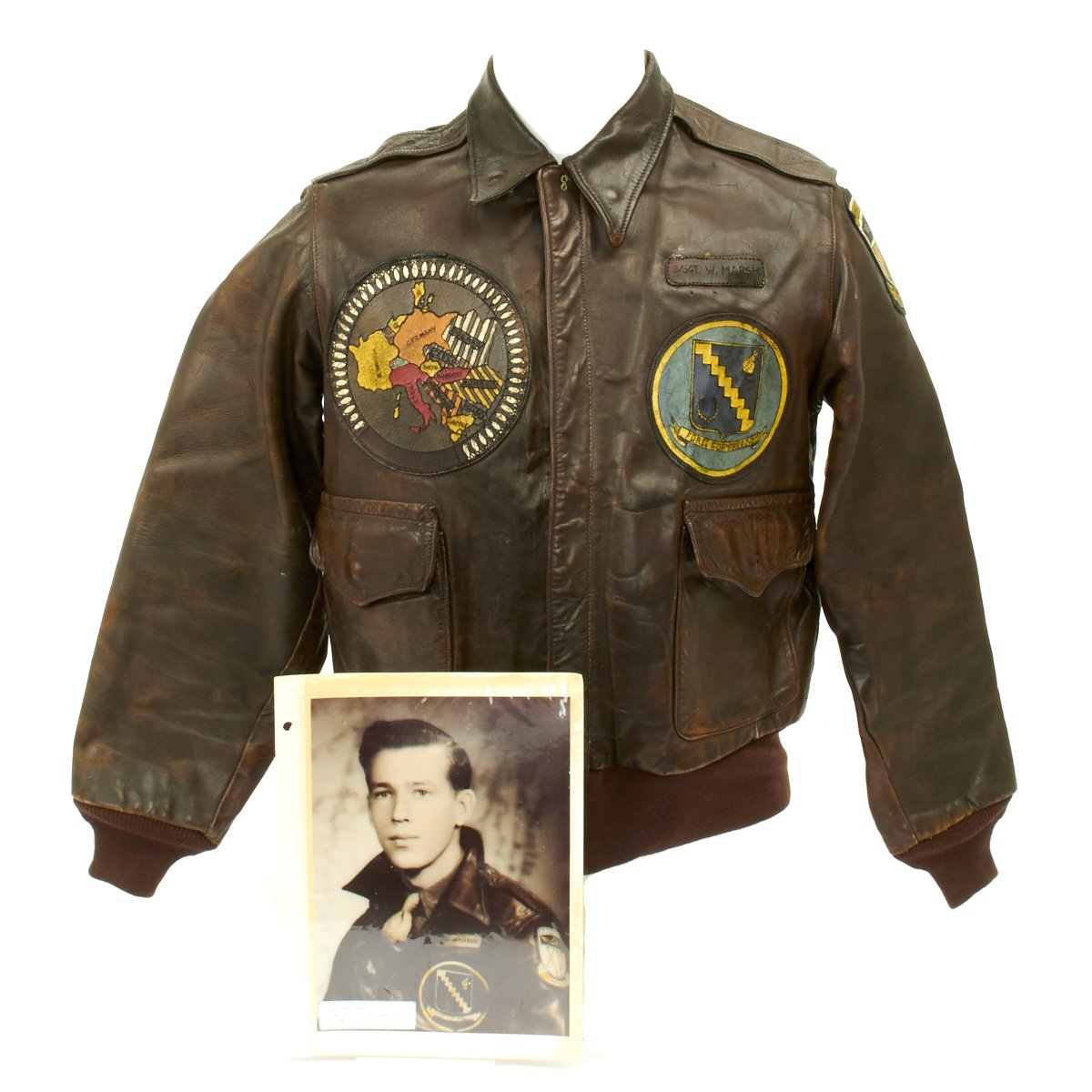 Original US WWII B 24 Liberator 98th Bombardment Group Named A 2 Flight Jacket