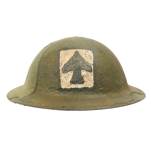 Original U.S. WWI M1917 Refurbished Doughboy Helmet of the 304th Patton Tank Brigade