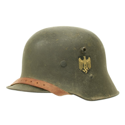 Original German WWII M17 Transitional Army Single Decal Helmet - Size 66