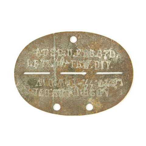 Original German WWII SS Identity Dog Tag Disc - 15th Waffen Grenadier Division of the SS (1st Latvian)