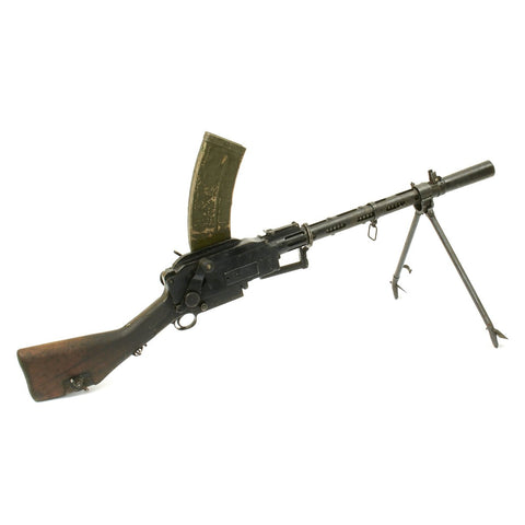 Original WWII Danish Madsen Display Light Machine Gun in German 8mm