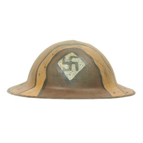 Original U.S. WWI M1917 Refurbished Doughboy Helmet of the 59th Pioneer Infantry Regiment