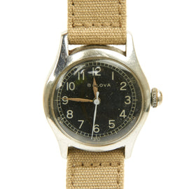 Original U.S. WWII 1943 Type A-11 USAAF Wrist Watch by Bulova - Fully Functional