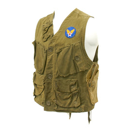 Original U.S. WWII USAAF Pilot Type C-1 Emergency Sustenance Vest - Early Pattern