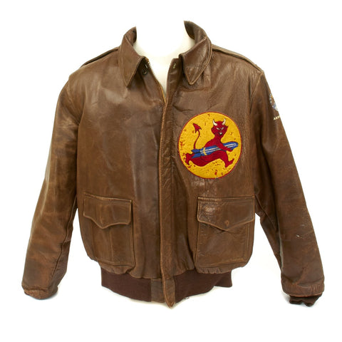 Original U.S. WWII B-17 Flying Fortress 535th Bomb Squadron A-2 Flight Jacket