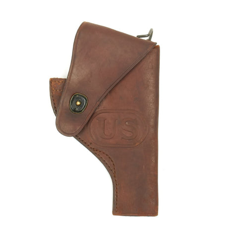 Original U.S. WWII Half-Flap .38 cal Victory Holster dated 1943 by Craighead