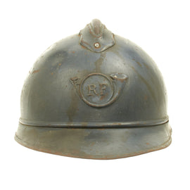 Original French WWI M1915 Adrian Mountain Trooper Chasseurs Helmet - Horizon Blue