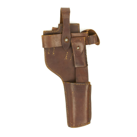 Original German WWI Mauser C96 Pistol Leather Harness Holster - Dated 1918