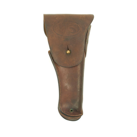 Original U.S. WWI M1916 .45 Leather Holster Made by Keyston Bros. - inspected by H.A.B.