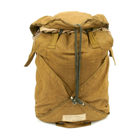 Original German WWII Luftwaffe Camouflage Fallschirmjager Paratrooper RZ20/36 Transitional Parachute with Bag
