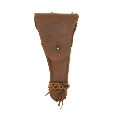 Original U.S. WWII M1916 .45 Colt 1911 Leather Holster dated 1942 by Enger-Kress