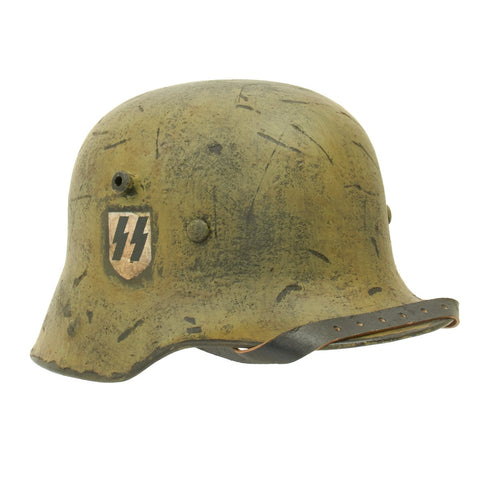 Original German WWI M16 Refurbished WW2 Transitional Waffen SS Helmet - Shell Stamped ET68