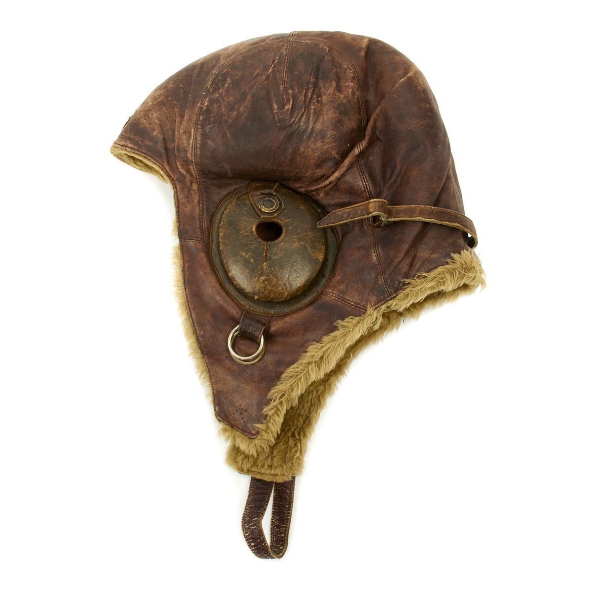 31ee2a1cb64b Original Japanese WWII Winter Flying Helmet with Pilot Goggles ...