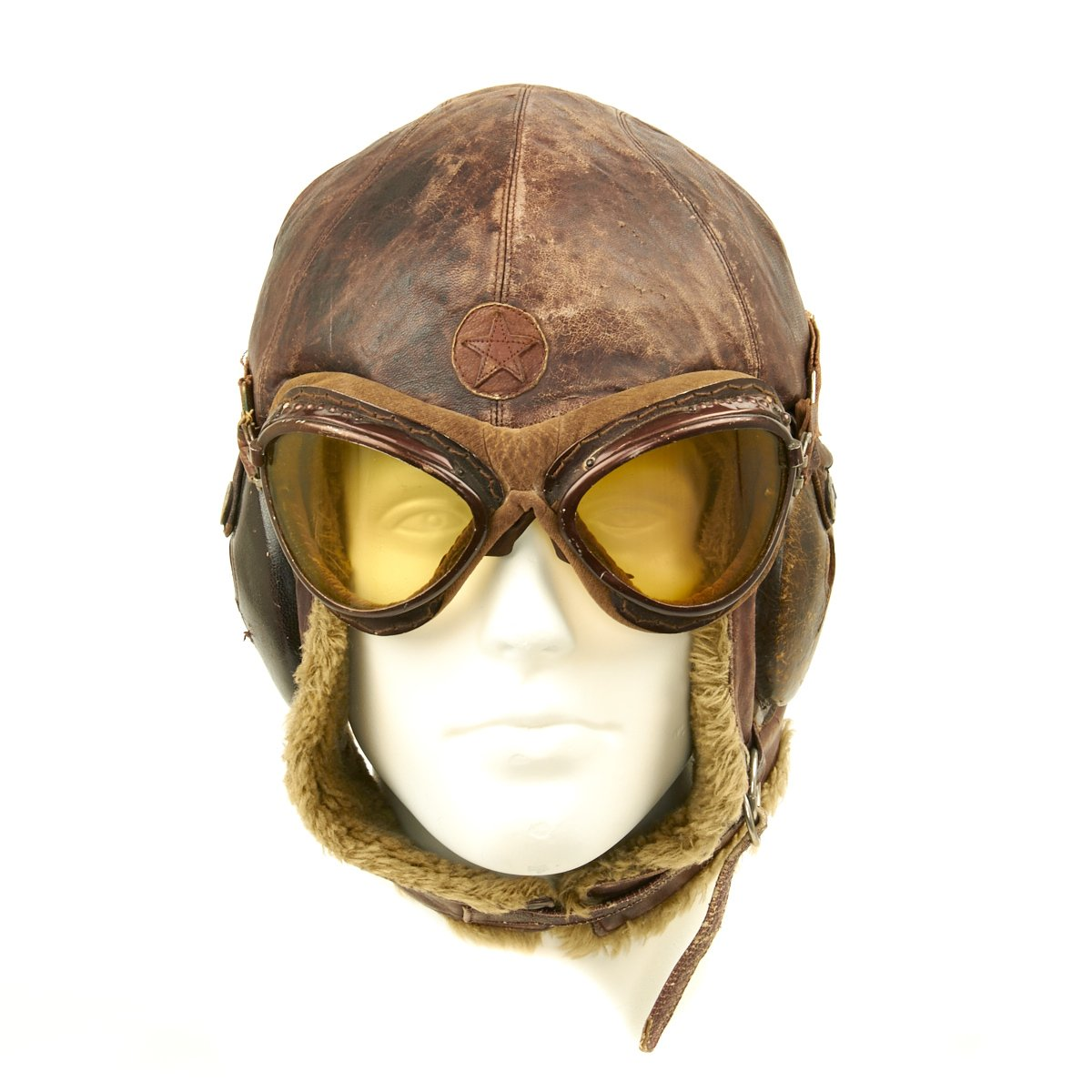 d7dce1e4c2fd Prev · Original Japanese WWII Winter Flying Helmet with Pilot Goggles. Tap  to expand